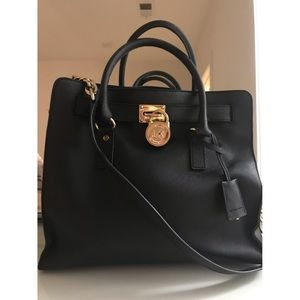 Black & Gold Michael Kors tote bag
